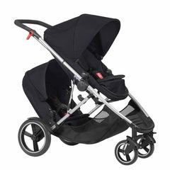 Phil & Teds Voyager Pushchair + Double Kit in Black