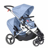 Phil & Teds Voyager Pushchair + Double Kit in Blue Marl