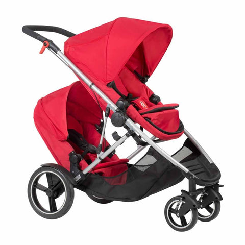 Phil & Teds Voyager Pushchair + Double Kit in Chilli