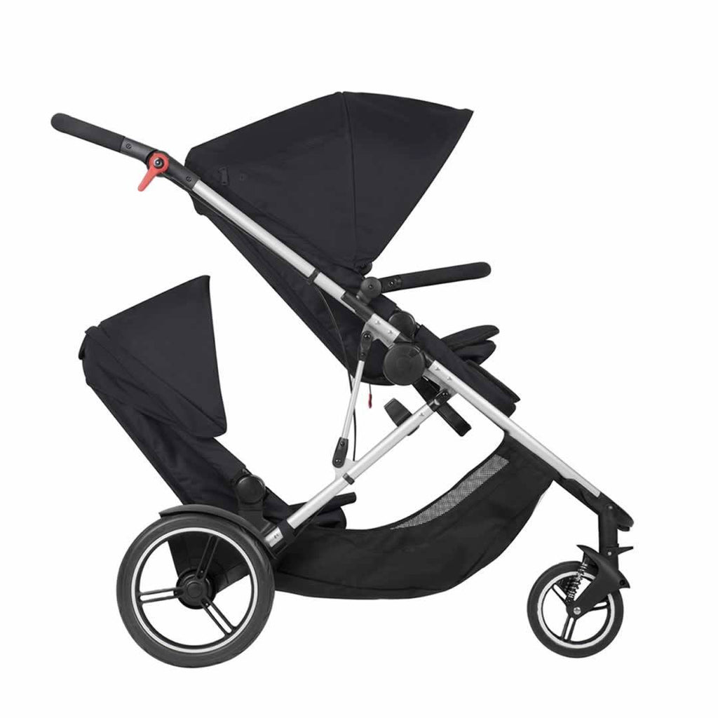 Phil & Teds Voyager Pushchair + Double Kit Black