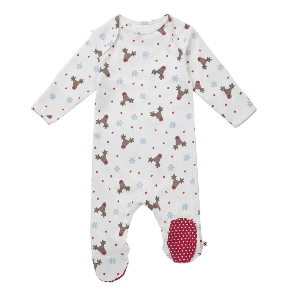 Piccalilly Sleepsuit Rudolph Print