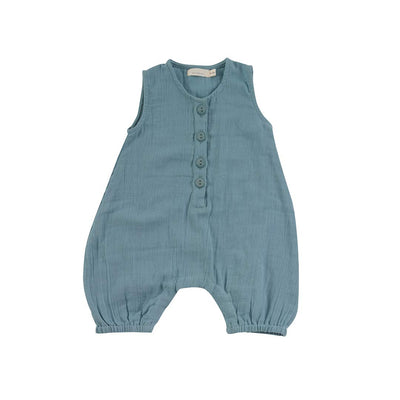 Pigeon Organics All-in-One - Turquoise-Rompers- Natural Baby Shower
