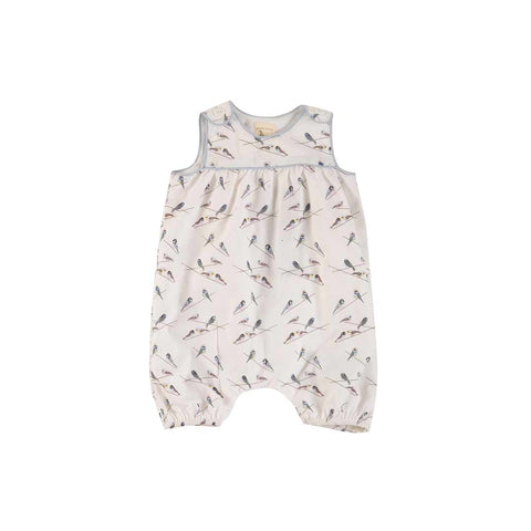 Pigeon Organics Baby Playsuit - Birds-Rompers- Natural Baby Shower