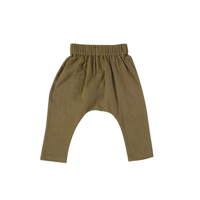 Pigeon Organics Baggy Pants - Olive-Pants- Natural Baby Shower