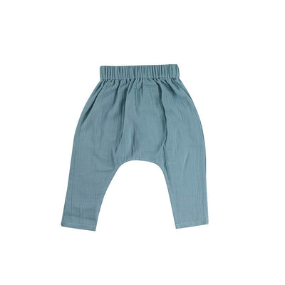 Pigeon Organics Baggy Pants - Turquoise-Pants- Natural Baby Shower