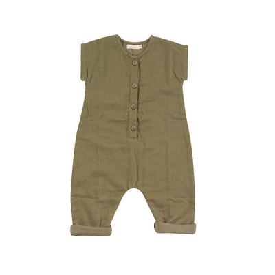 Pigeon Organics Jumpsuit - Olive-Rompers- Natural Baby Shower