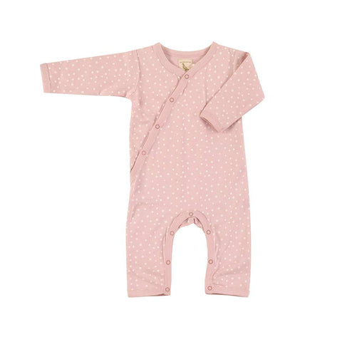 Pigeon Organics Kimono Romper - Spots on Pink-Rompers- Natural Baby Shower