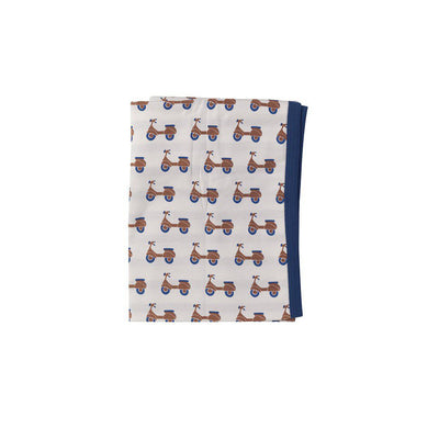 Pigeon Organics Reversible Blanket - Scooters-Blankets-Scooters- Natural Baby Shower