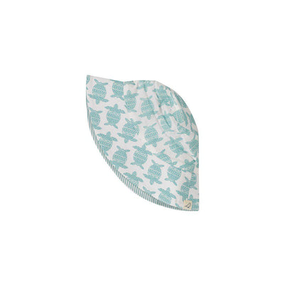 Pigeon Organics Reversible Sun Hat - Turtle Turquoise-Hats- Natural Baby Shower