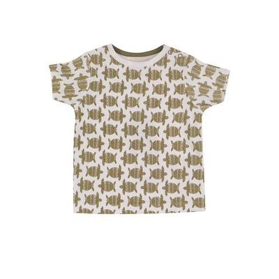 Pigeon Organics Short Sleeve T-Shirt - Turtle Olive-Short Sleeves- Natural Baby Shower
