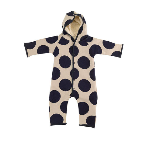 Pigeon Organics Snugglesuit - Giant Spot - Ink Blue/Pumice-Rompers- Natural Baby Shower