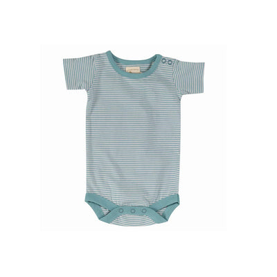 Pigeon Organics Summer Body - Turquoise-Bodysuits- Natural Baby Shower