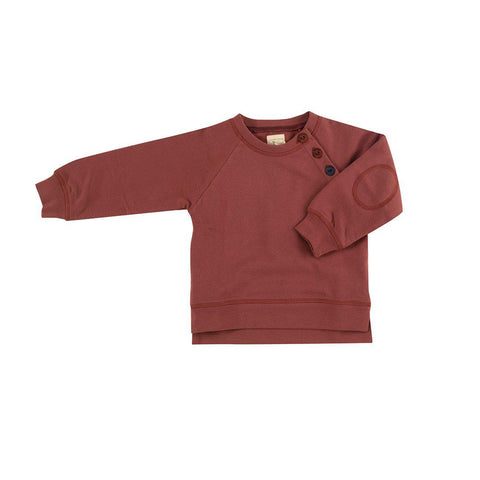 Pigeon Organics Sweatshirt - Spice-Long Sleeves- Natural Baby Shower