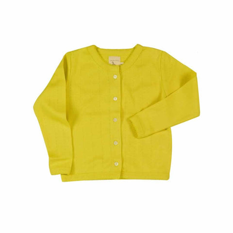 Pigeon Organics Pointelle Cardigan in Yellow