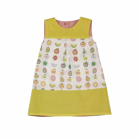 Pigeon Organics Reversible Shift Dress - Fruit - Dresses - Natural Baby Shower