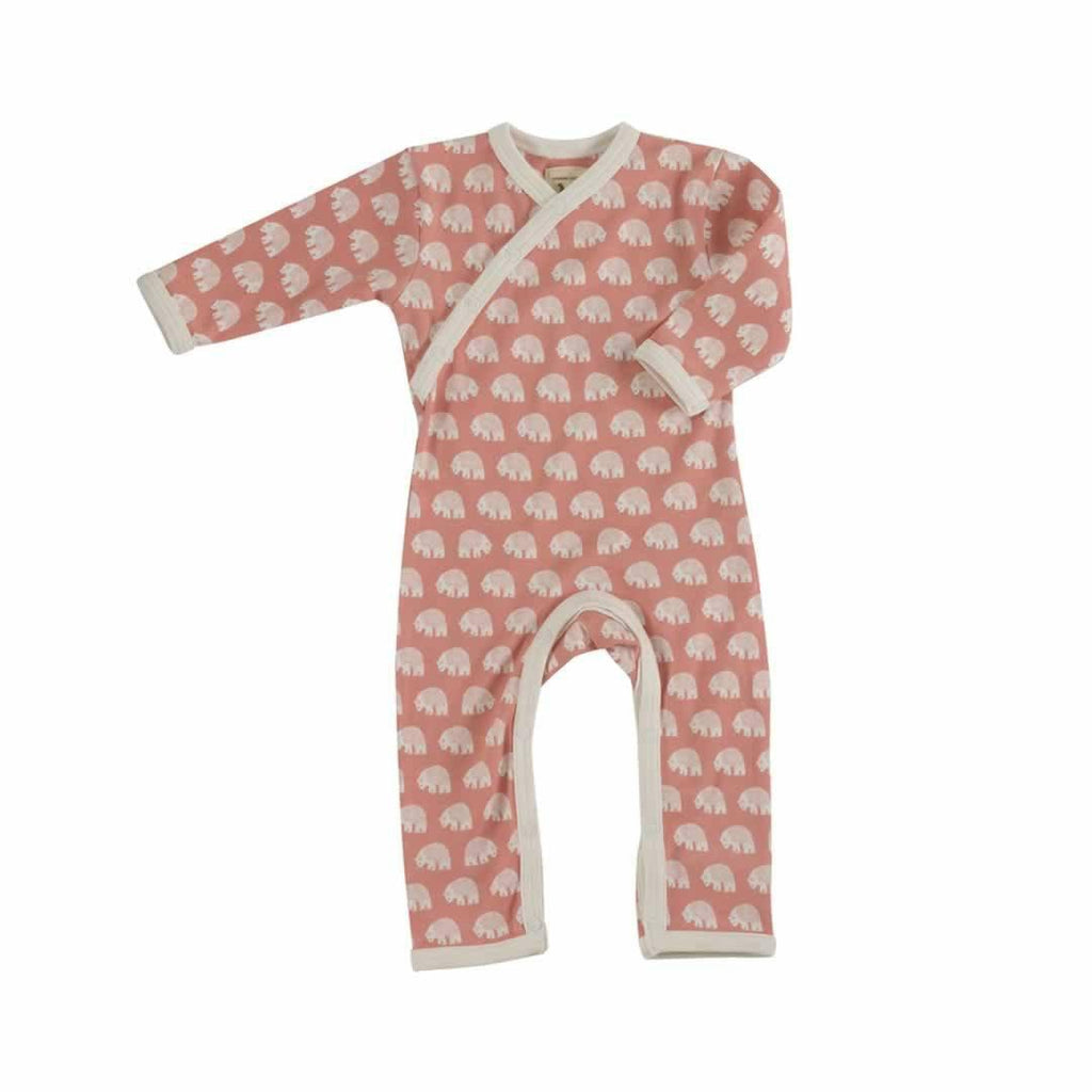 Pigeon Organics Woodland Romper - Pink Bear-Rompers- Natural Baby Shower