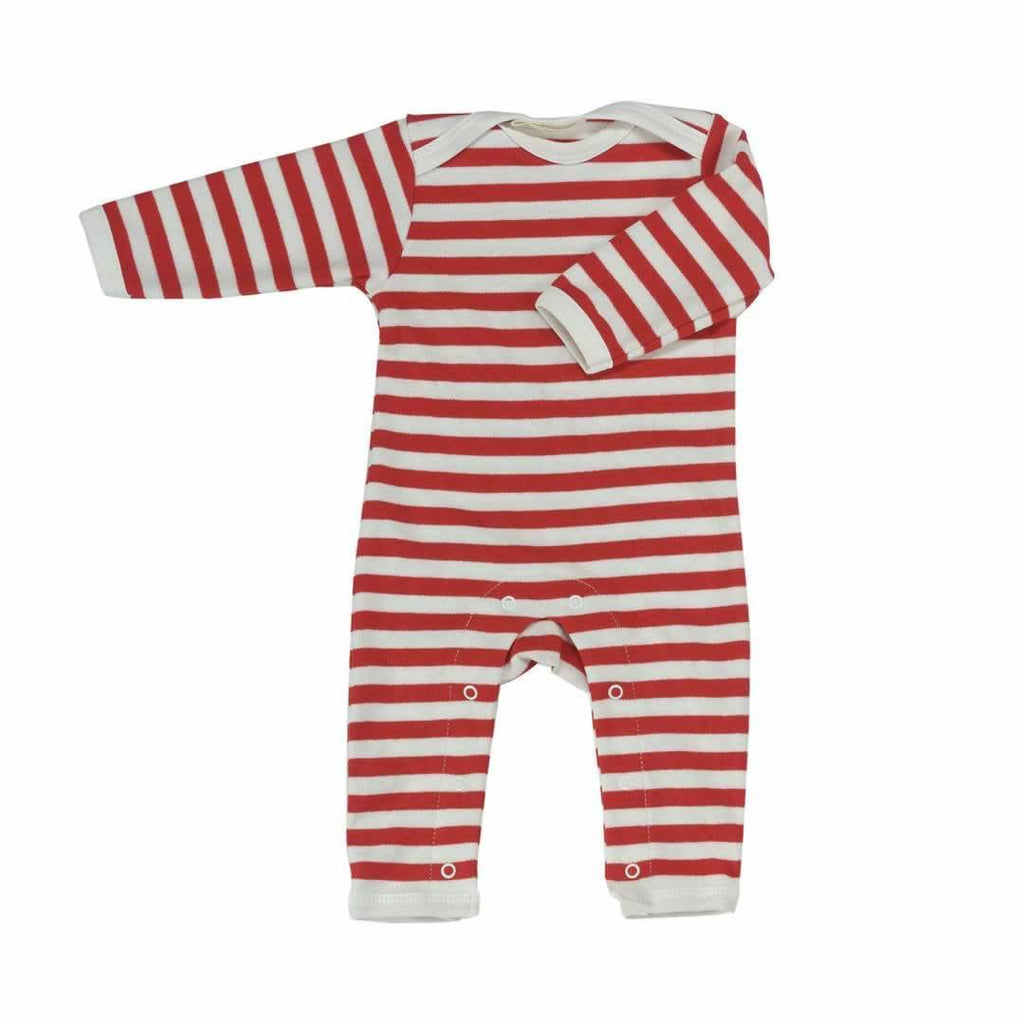Pigeon Organics Romper in Red Stripe