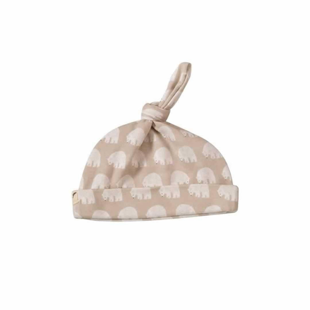 Pigeon Organics Woodland Knotted Hat Taupe Bear