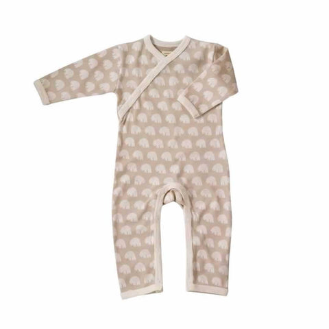 Pigeon Organics Woodland Romper - Taupe Bear-Rompers- Natural Baby Shower