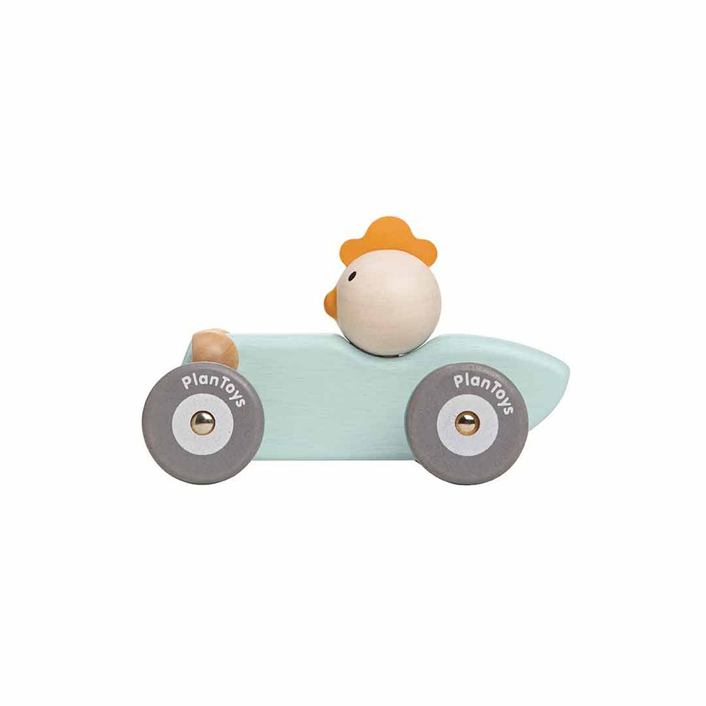 Plan Toys Chicken Racing Car-Play Sets- Natural Baby Shower