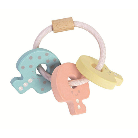 Plan Toys Key Rattle - A Touch of Pastel-Rattles- Natural Baby Shower