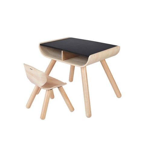 Plan Toys Table & Chair-Tables & Chairs- Natural Baby Shower
