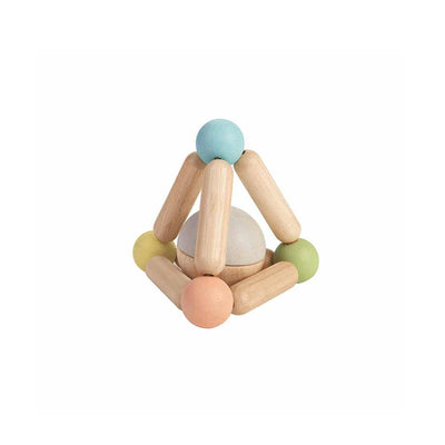 Plan Toys Triangle Clutching Toy-Rattles- Natural Baby Shower