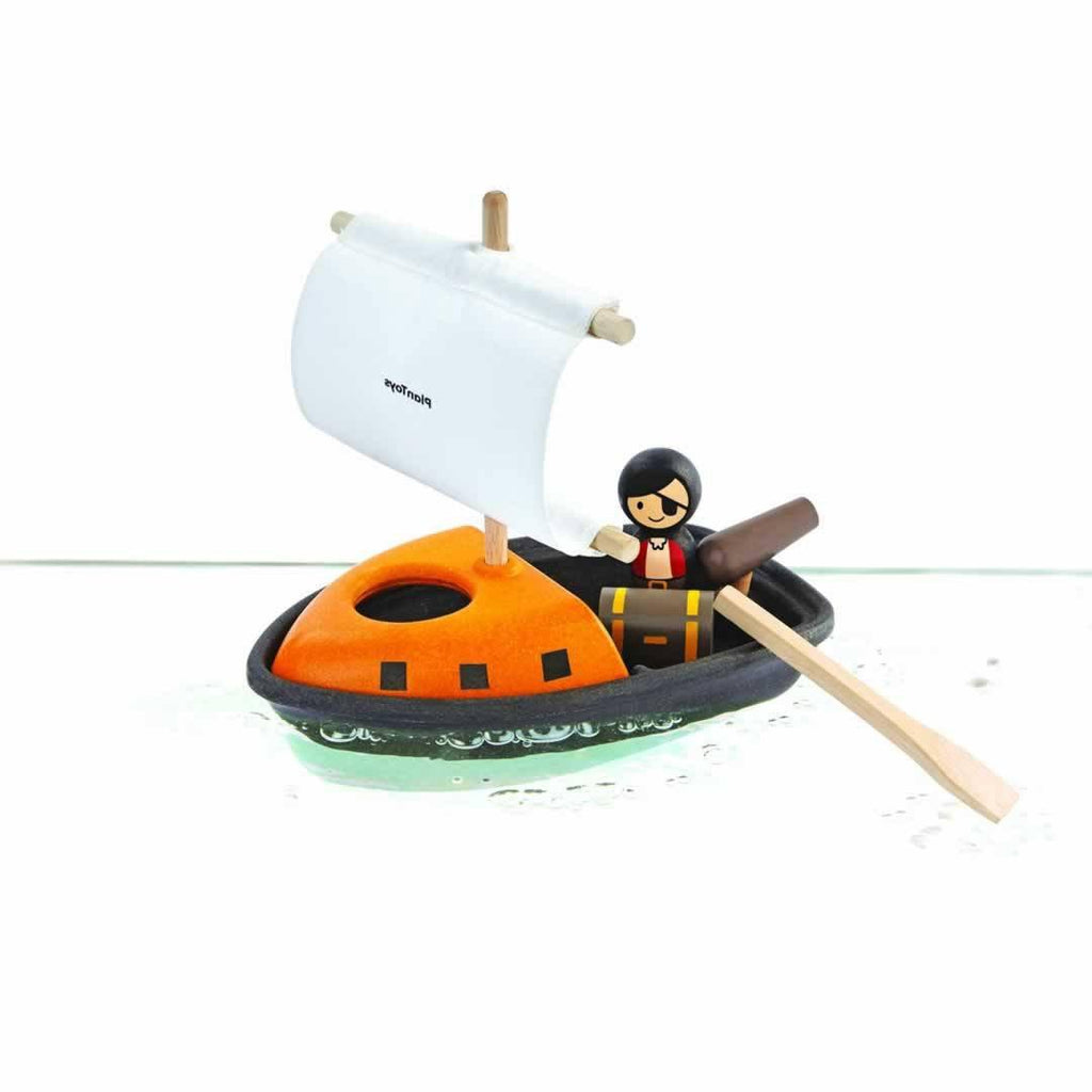 Plan Toys Pirate Boat - Bath Toys - Natural Baby Shower