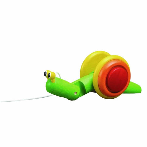 Plan Toys Pull-Along Snail - Baby Walkers - Natural Baby Shower
