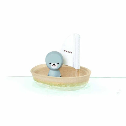 Plan Toys Sailing Boat Seal-Bath Toys- Natural Baby Shower