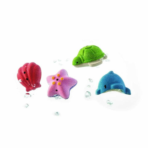 Plan Toys Sea Life Bath Set - Bath Toys - Natural Baby Shower