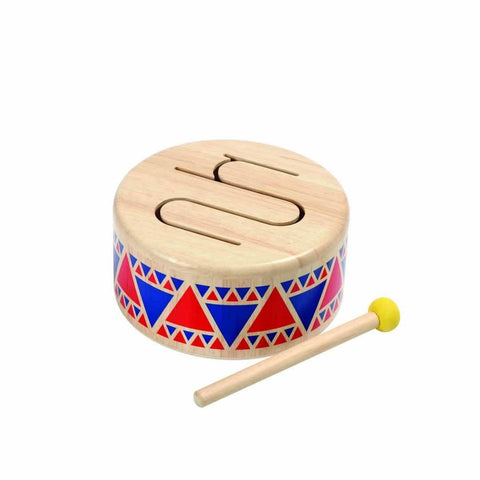 Plan Toys Solid Drum-Musical Instruments- Natural Baby Shower