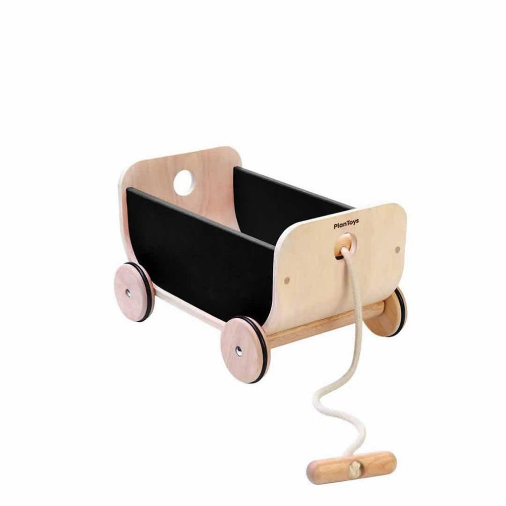 Plan Toys Wagon - Black-Baby Walkers- Natural Baby Shower