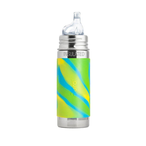 Pura Toddler Insulated Bottle with XL Sipper Spout 250ml/9oz - Aqua Swirl-Bottles- Natural Baby Shower