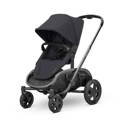 Quinny Hubb Pushchair - Graphite & Black on Black-Strollers- Natural Baby Shower