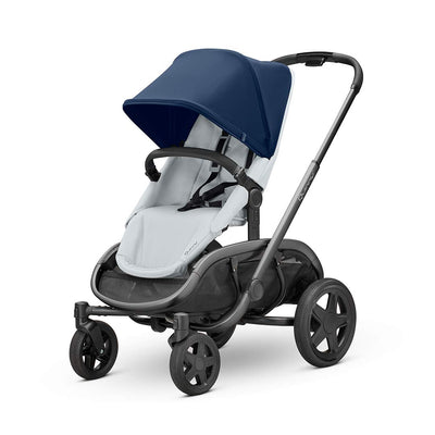 Quinny Hubb Pushchair - Graphite & Navy on Grey-Strollers- Natural Baby Shower