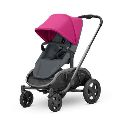 Quinny Hubb Pushchair - Graphite & Pink on Graphite-Strollers- Natural Baby Shower