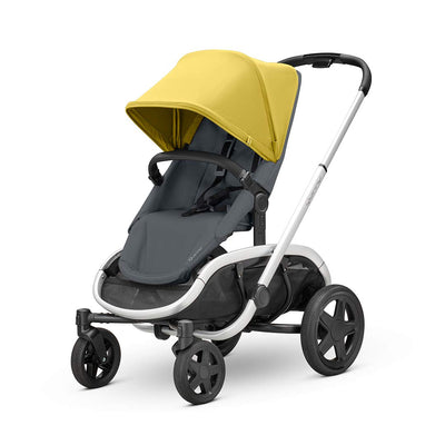 Quinny Hubb Pushchair - Silver & Ochre on Graphite-Strollers- Natural Baby Shower