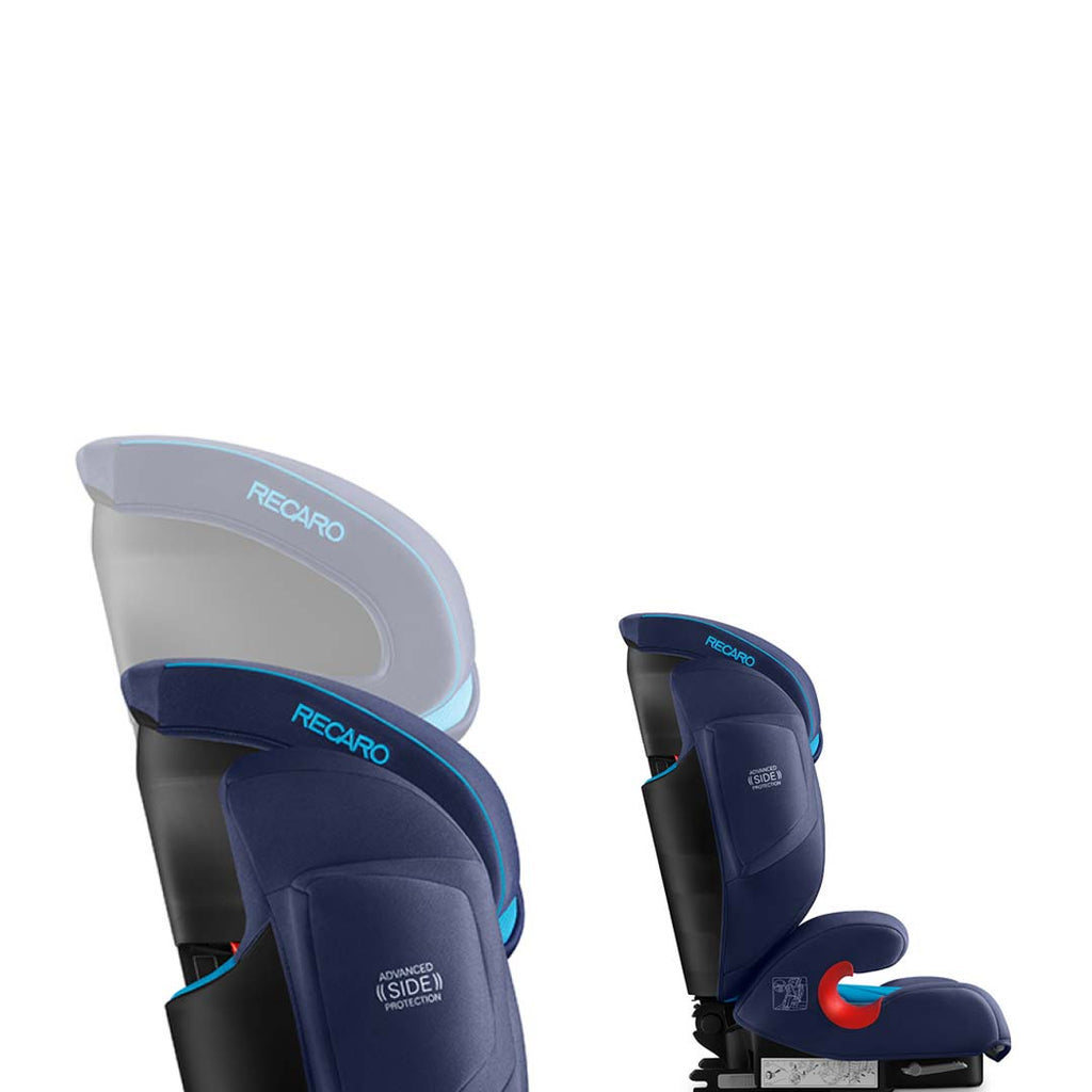 RECARO Monza Nova 2 Seatfix Car Seat - Xenon Blue Headrest