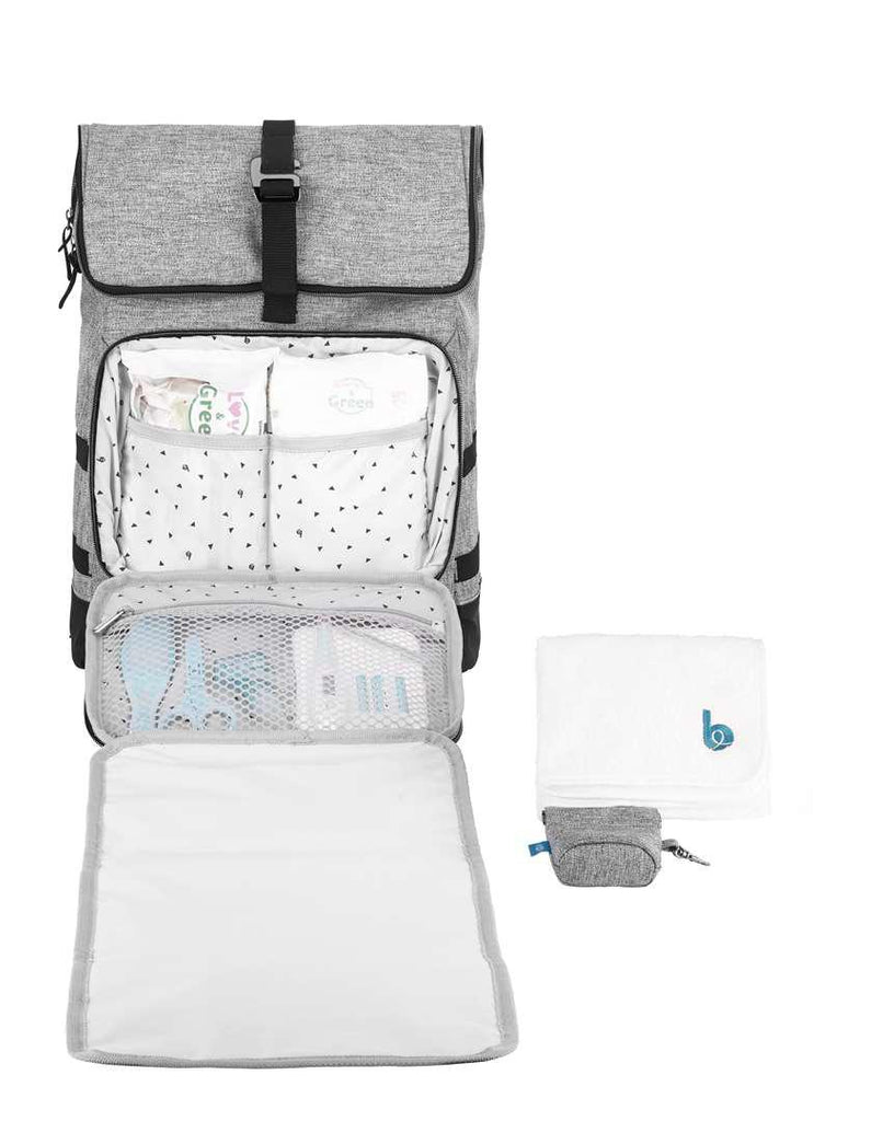 babymoov Le Sancy Changing Bag - Smokey-Changing Bags- Natural Baby Shower