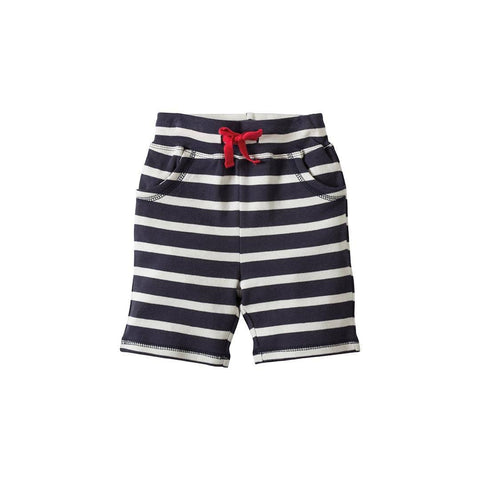 Frugi Little Stripy Shorts - Navy Breton/Croc