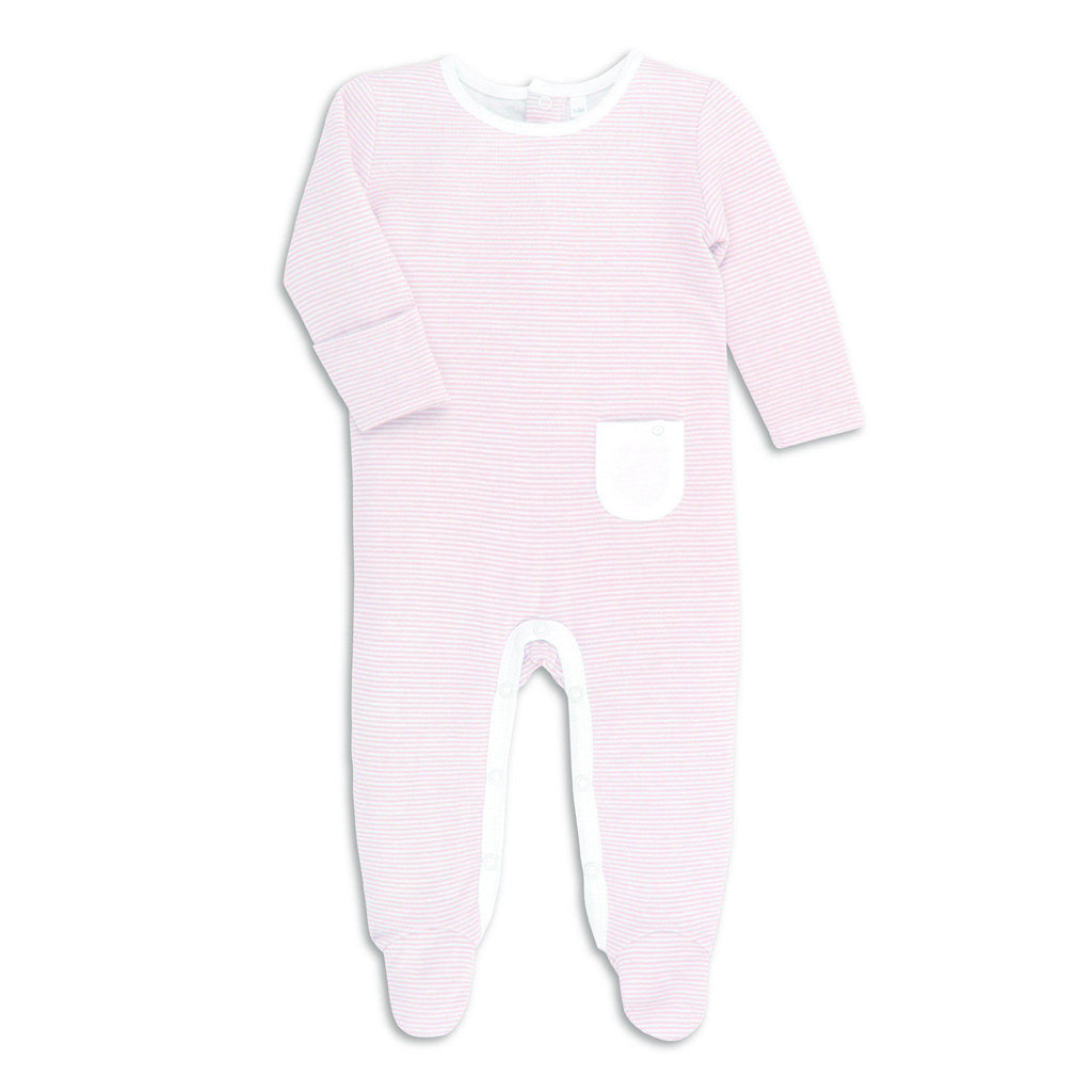 MORI Back Opening Sleepsuit Blush
