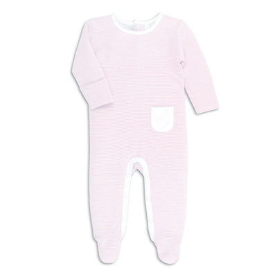 MORI Back Opening Sleepsuit - Blush-Sleepsuits- Natural Baby Shower
