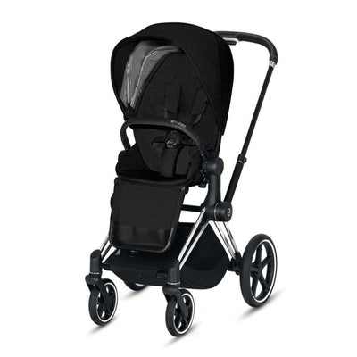 Cybex Priam Pushchair - Stardust Black Plus-Strollers-Chrome Black-None- Natural Baby Shower