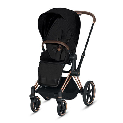 Cybex ePriam Pushchair - Stardust Black Plus-Strollers-Rose Gold-None- Natural Baby Shower