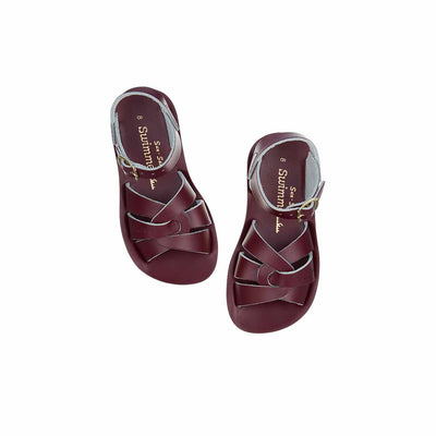 Salt-Water Sun-San Kids Sandals - Swimmer - Claret-Sandals- Natural Baby Shower