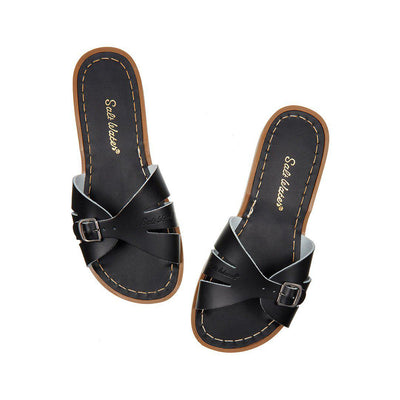 Salt-Water Womens Sandals - Slide - Black-Adult Sandals-7-Black- Natural Baby Shower