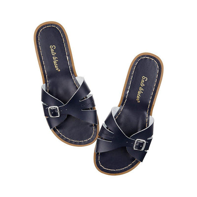 Salt-Water Womens Sandals - Slide - Navy-Adult Sandals-9-Navy- Natural Baby Shower