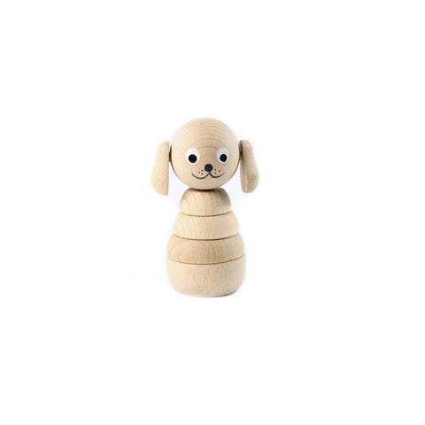 Sarah & Bendrix Natural Wooden Stacker - Dog-Sorting & Stacking Toys-Default- Natural Baby Shower