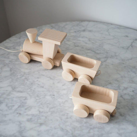 Sarah & Bendrix Pull Along Trains & Wagons-Baby Walkers-Default- Natural Baby Shower